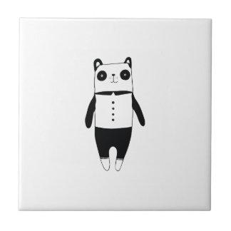 Little black and white panda ceramic tile
