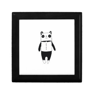 Little black and white panda gift box