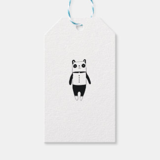 Little black and white panda gift tags