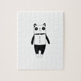 Little black and white panda jigsaw puzzle