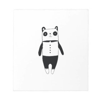 Little black and white panda notepad