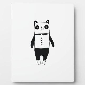 Little black and white panda plaque