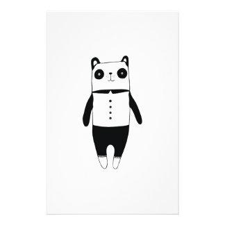 Little black and white panda stationery