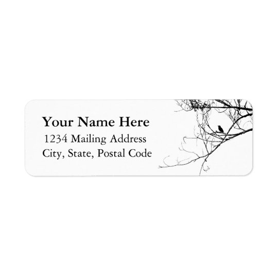 Little Black Bird Address Label