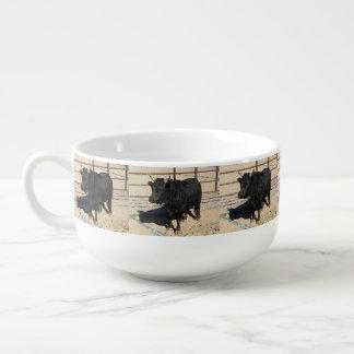 Little Black Bull Soup Mug