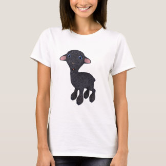 Little Black Cartoon Lamb T-Shirt