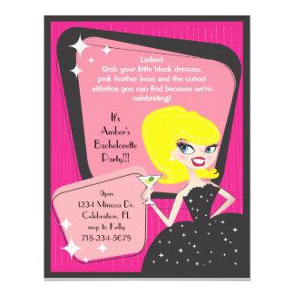 Little Black Dress_Blonde Bombshell Invitations