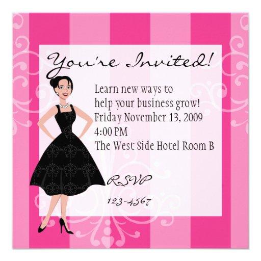 little black dress custom announcements