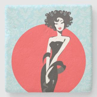 Little Black Dress Limestone Coaster Stone Beverage Coaster