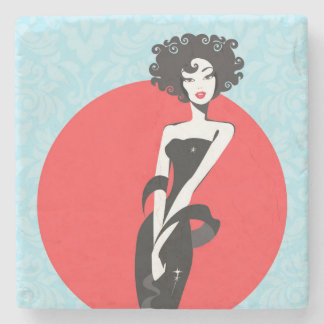 Little Black Dress Marble Stone Coasters Stone Coaster