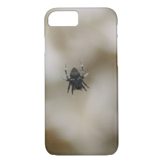Little Black Spider Sitting on a Web iPhone 7 Case