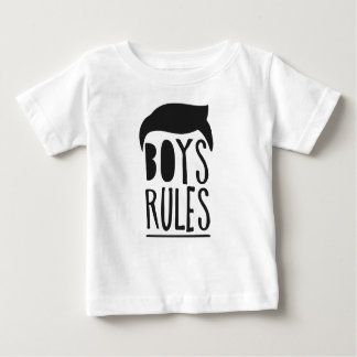 Little Black vintage Hair kids Man cool Boy Rules Baby T-Shirt