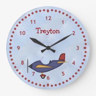 Little Blue Airplane Wall Clock