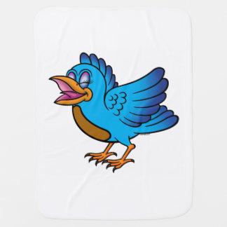 Little Blue Bird I Buggy Blankets