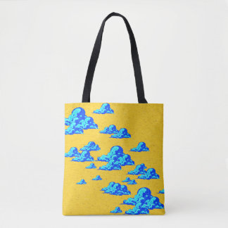 Little Blue Clouds Tote Bag