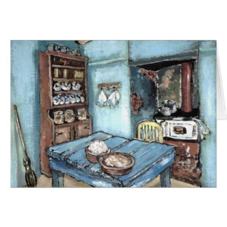 Little Blue Country Kitchen Card