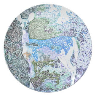 Little Blue Deer Dinner Plates