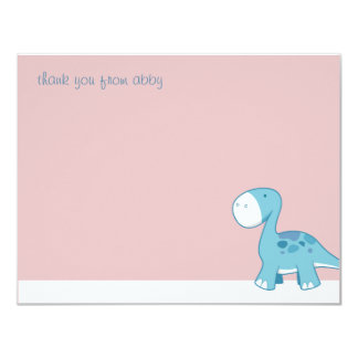 Little Blue Diplodocus | Flat Thank You Note Cards