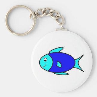 Little Blue Fish Key Ring