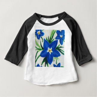 little blue flower collection baby T-Shirt