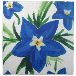 little blue flower collection napkin