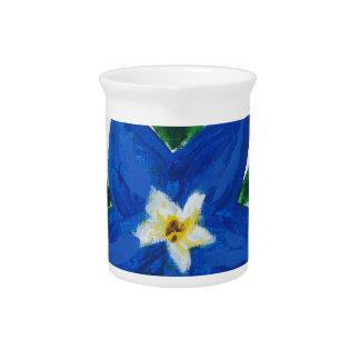 little blue flower collection pitcher