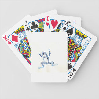 Little Blue Frog Bicycle Playing Cards
