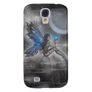 Little Blue Glowing Fairy Fantasy Art Galaxy S4 Case
