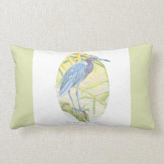 Little Blue Heron And Sweet Grass Lumbar Pillow