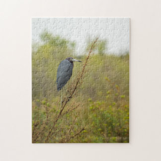 Little Blue Heron Finds Shelter Jigsaw Puzzle