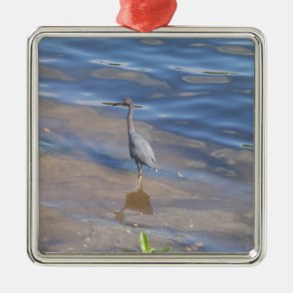 Little Blue Heron Metal Ornament