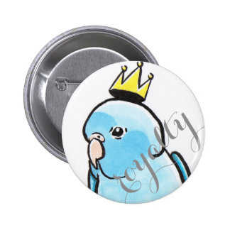 Little Blue King 6 Cm Round Badge