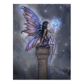 Little Blue Moon Fairy Fantasy Postcard