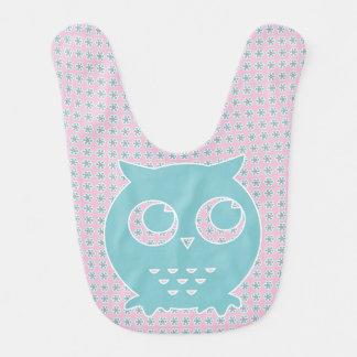 Little Blue Owl Baby Bib