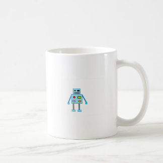 Little Blue Robot Coffee Mug