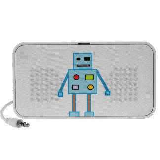 Little Blue Robot iPod Speakers
