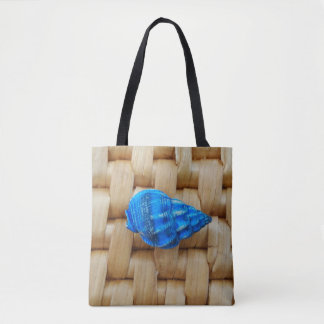 Little Blue Shell Tote Bag