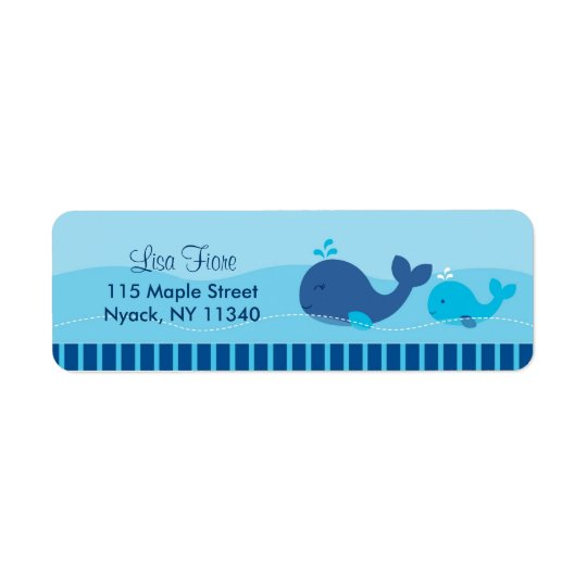Little Blue Whale Address Labels