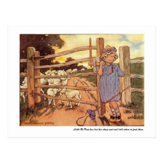 Little Bo-Peep Nursery Rhyme Postcard