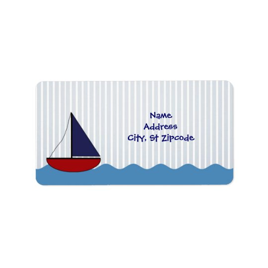 Little Boat Address Label