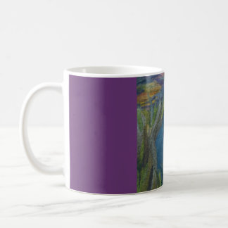 Little boat on to river coffee mug