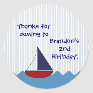 Little Boat Round Sticker