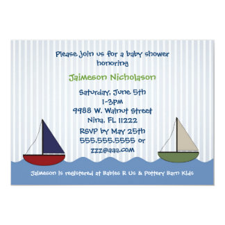 Little Boats Baby Shower Invitation