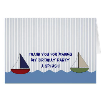 Little Boats Folding Thank You Note Card