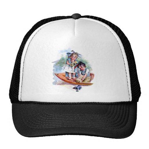 Little Boston Tea Party Mesh Hats