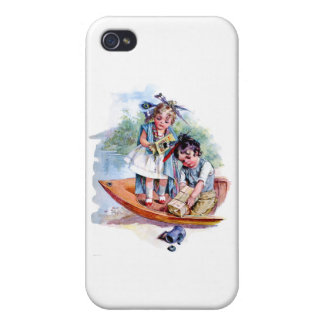Little Boston Tea Party iPhone 4 Cover