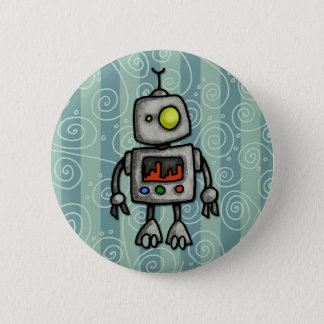 little bot 6 cm round badge