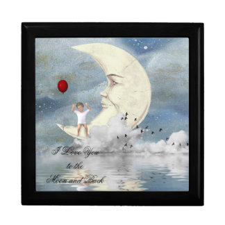 Little Boy and The Moon Large Square Gift Box