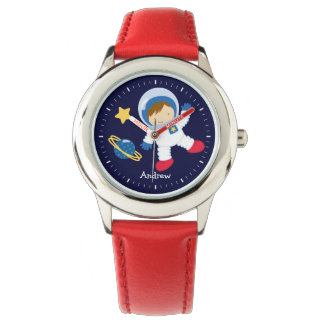 Little Boy Astronaut Personalized Wristwatches