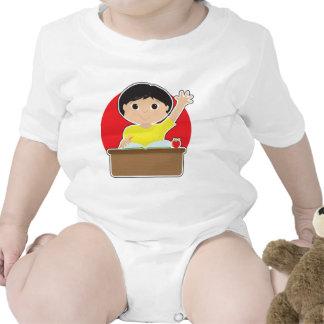 Little Boy at School Asian Tee Shirts